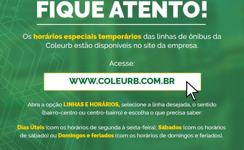 Consulte os horários dos ônibus no site da Coleurb