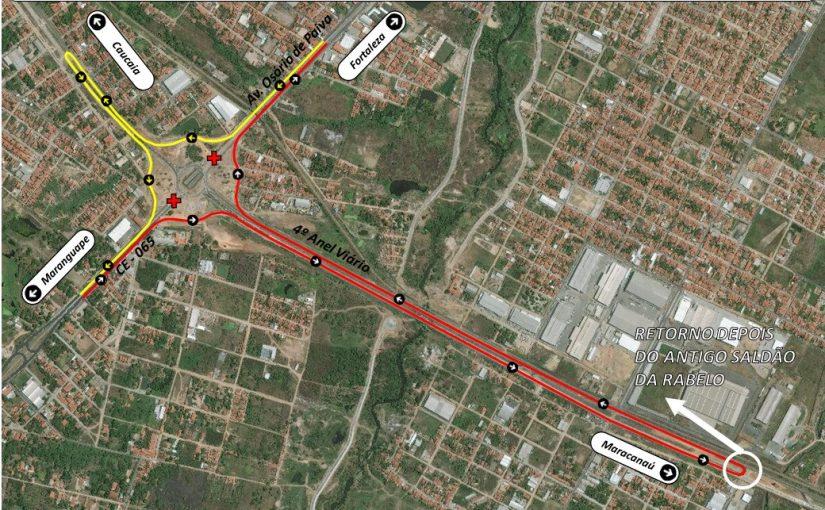 Alteração de rota nas linhas JEREISSATI ROTA 1 e 2, PITAGUARY, TAQUARA E OLHO D'ÁGUA