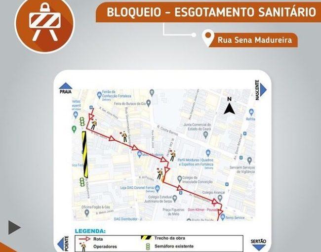 Onze linhas de ônibus alteradas com obra na Rua Sena Madureira