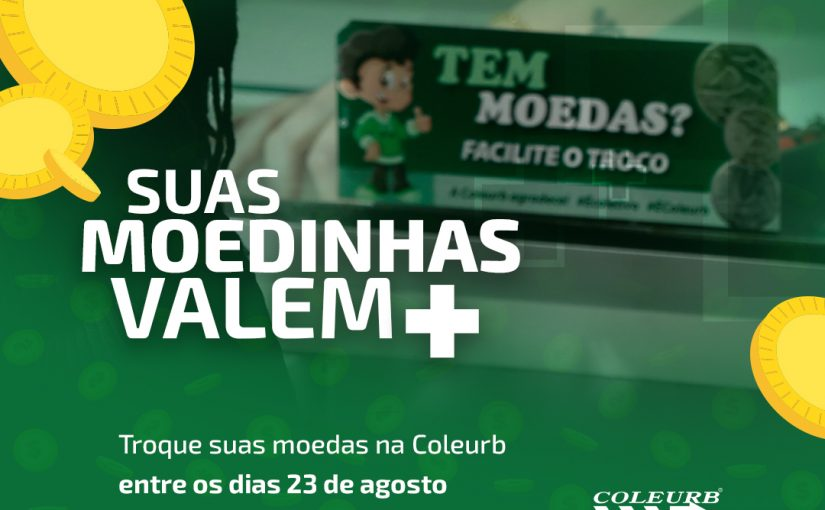Coleurb faz campanha para arrecadação de moedas para troco e realizará sorteio de prêmios