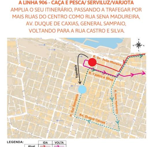 Etufor amplia itinerário da linha 906 – Caça e Pesca/ Serviluz/Varjota